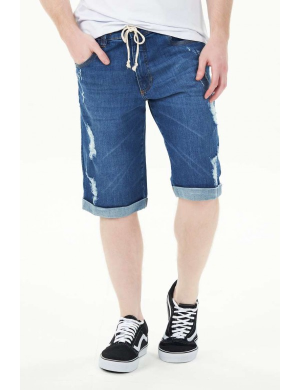 BERMUDA BARRA VIRADA C/ELASTANO - Jeans