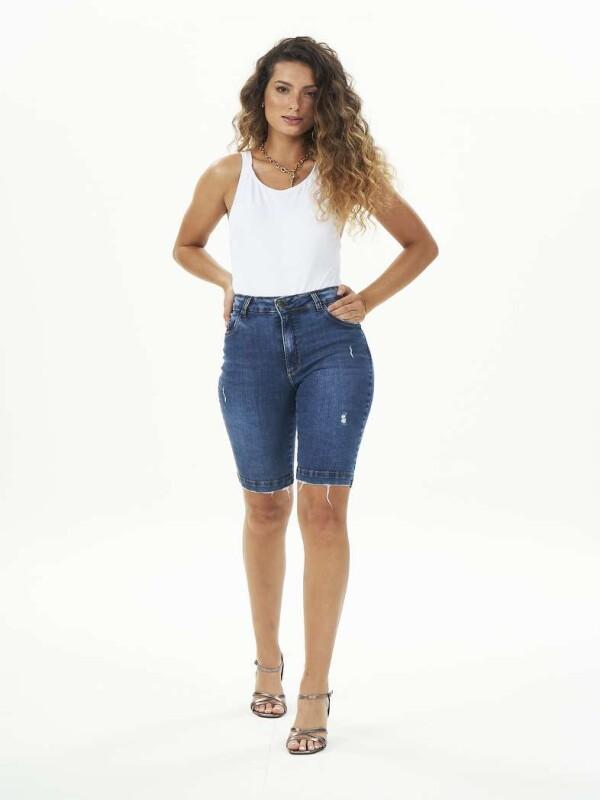 BERMUDA CICLISTA COM ELASTANO - Jeans
