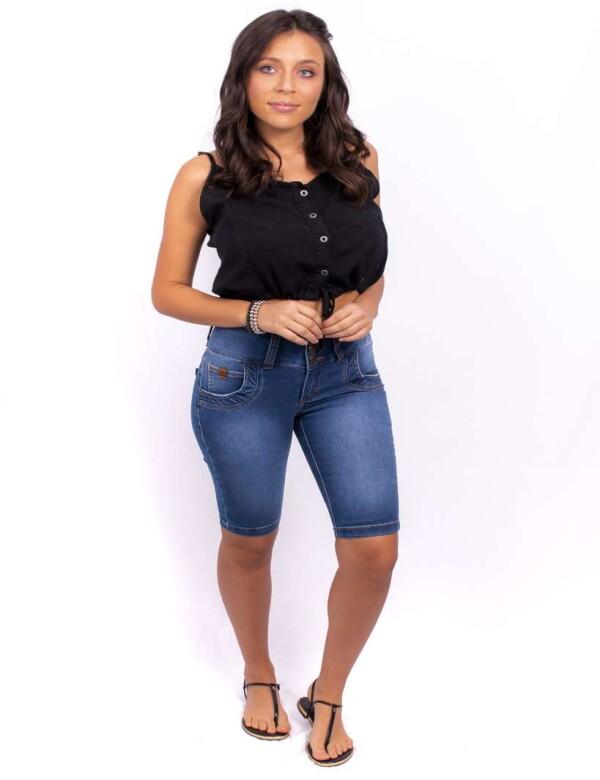 BERMUDA CICLISTA ESTONE MÉDIO C/ELÁSTICO - Jeans