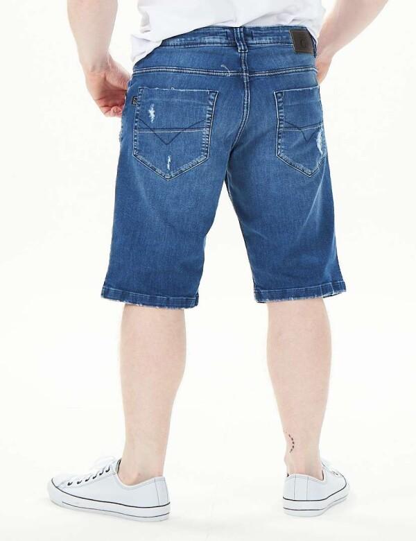 BERMUDA JEANS MASCULINA COM ELASTANO - Jeans
