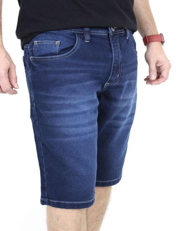 BERMUDA JEANS MASCULINA MOLETOM COM BIGODE FR - Jeans