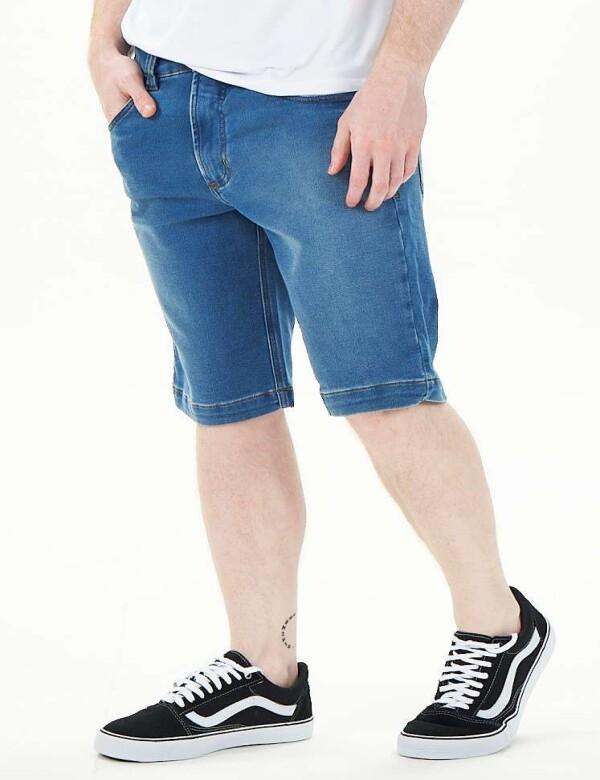 BERMUDA JEANS MASCULINA MOLETOM - Jeans