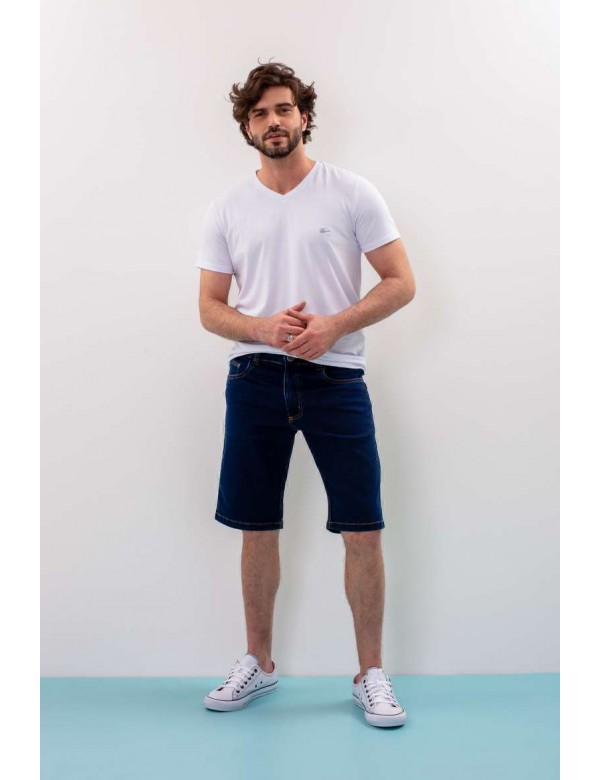 BERMUDA MASCULINA JEANS MOLETOM TRADICIONAL - Jeans