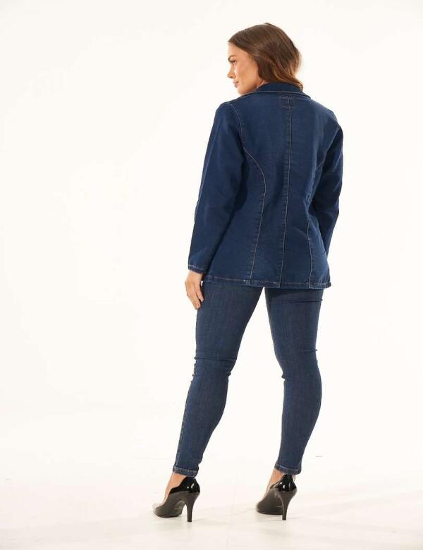 BLASER JEANS ESCURO MOLETOM - Jeans