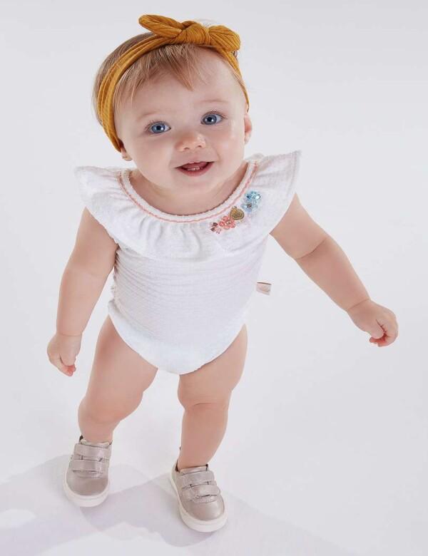 BODY EM JACQUARD BABY FEMININO - KIKIXODO - Sortidos