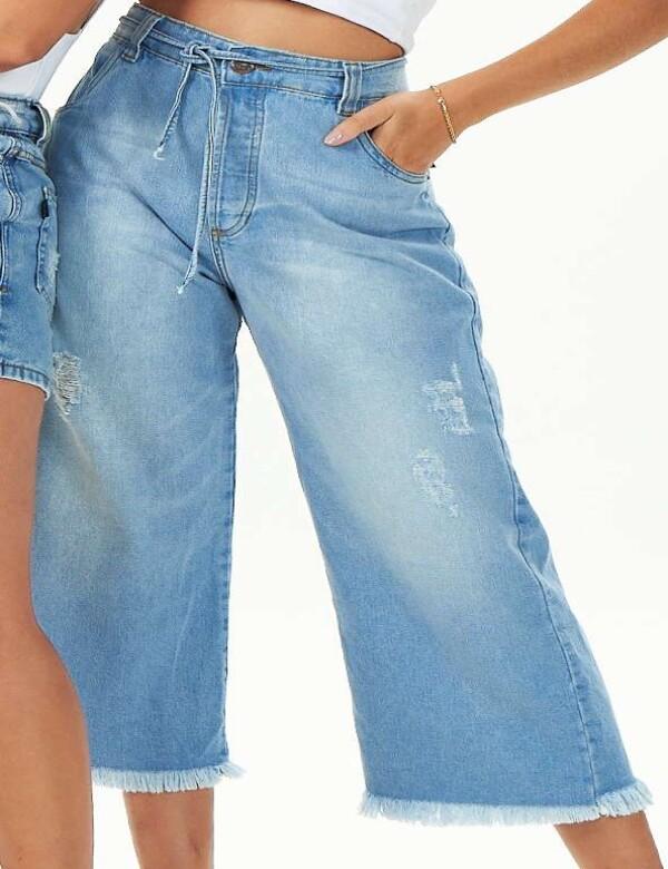 CALÇA FEMININA JEANS CLARA PANTACOURT - Jeans