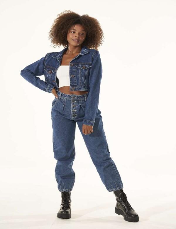 CALÇA JEANS BAG CÓS ALTO - Jeans