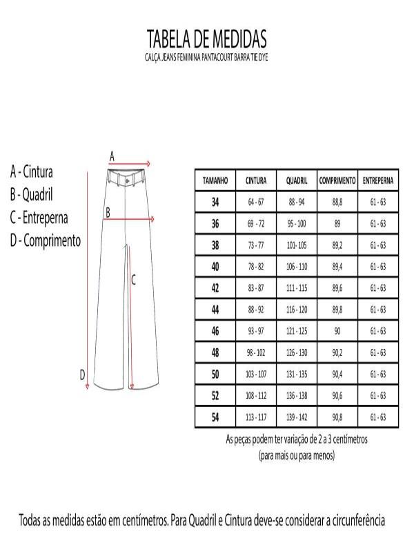 CALÇA JEANS FEMININA PANTACOURT BARRA TIE DYE - Jeans
