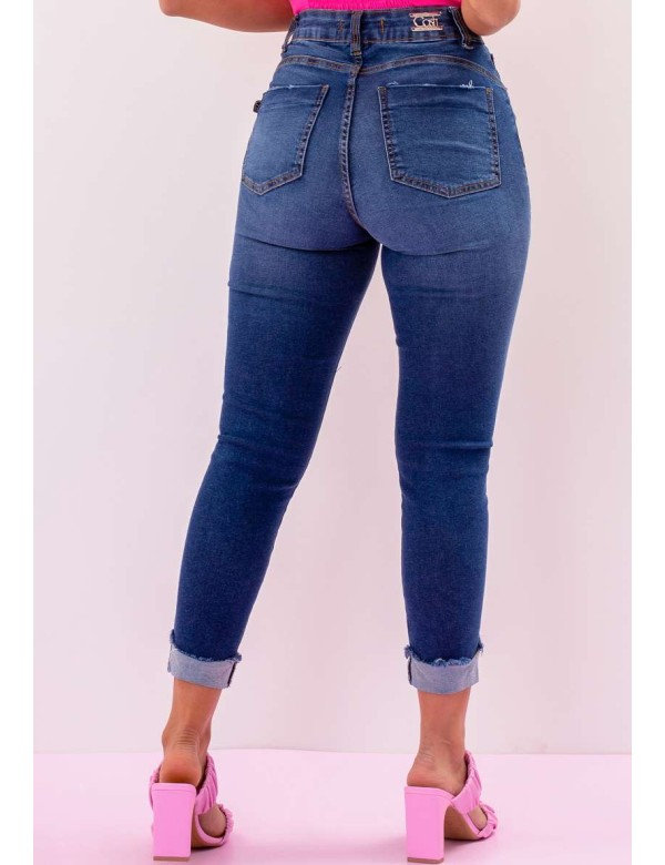 CALÇA JEANS HOT CAPRI STONADA FEMININA - COSH JEANS - Jeans