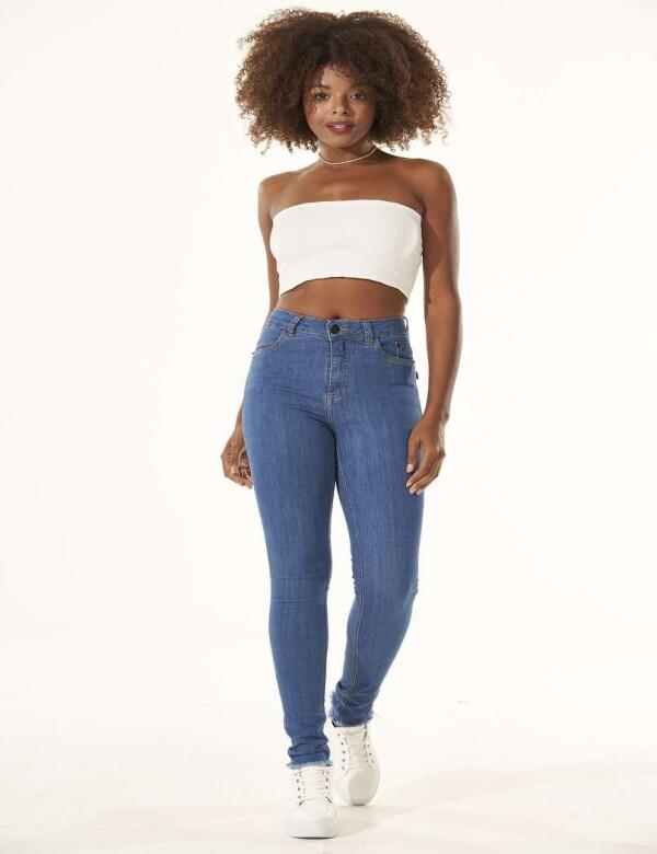 CALÇA JEANS HOT PANTS COM ELASTANO - Jeans