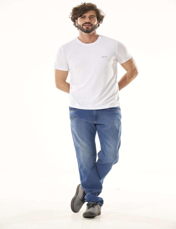 CALÇA JEANS MASCULINA MOLETOM 3 BOLSOS FRONTAIS - Jeans