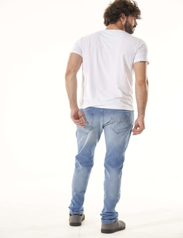 CALÇA JEANS MOLETOM DESTROYED COM ELASTANO - Jeans