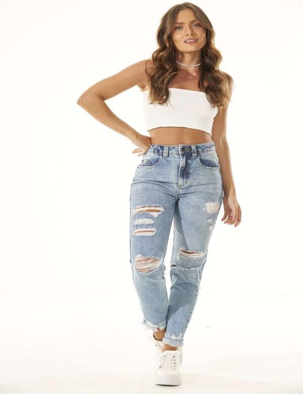 CALÇA JEANS MON DESTROYED - Jeans