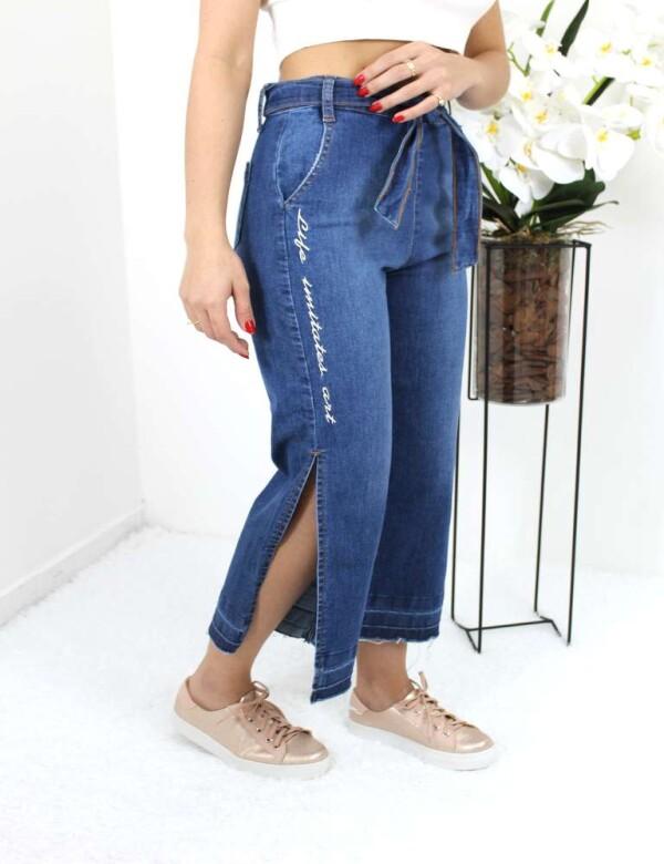 CALÇA JEANS PANTACOURT COM BORDADO - Jeans