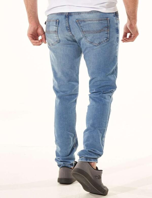 CALÇA JEANS STONADA COM ELASTANO - Jeans