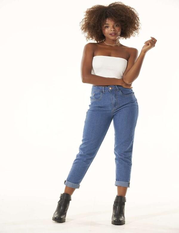 CALÇA MOM 100% ALGODÃO - Jeans