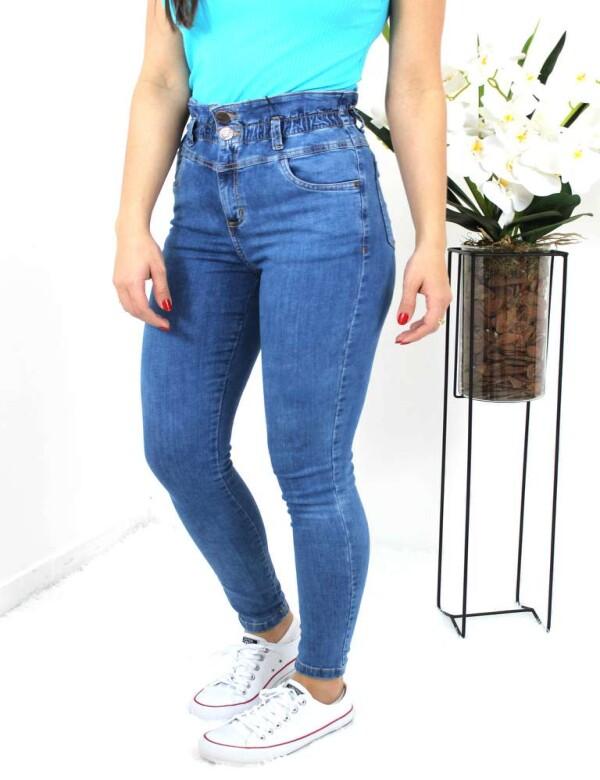 CALÇA SKINNY ELÁSTICO NO CÓS - Jeans