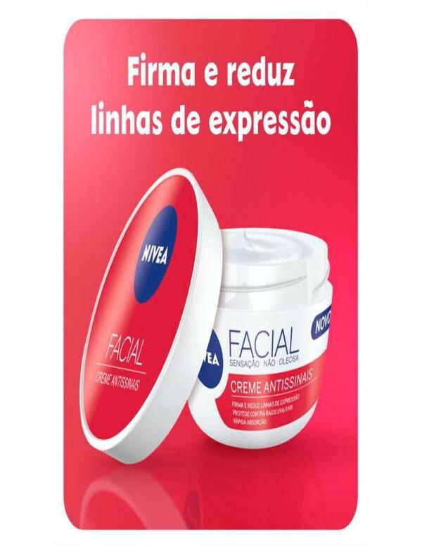 CREME FACIAL NIVEA ANTISSINAIS 100G - Vermelho