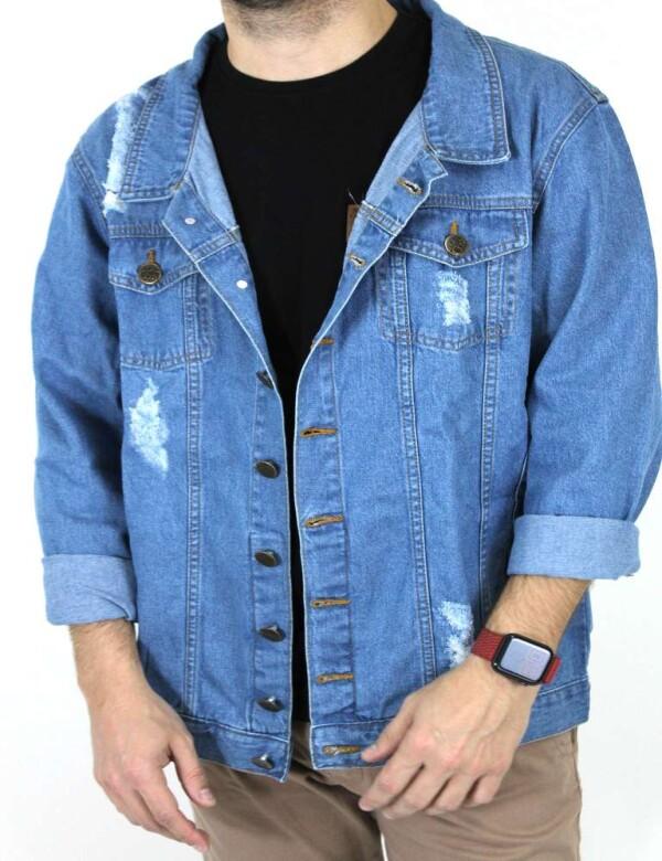 JAQUETA JEANS MASCULINA CLARA - Jeans