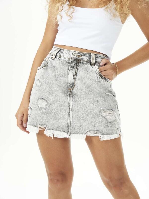 MINI SAIA DESTROYED DETONADA - Jeans