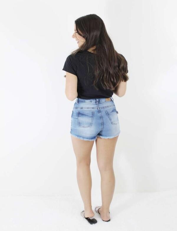 SHORTS CLARO DESTROYED COM ELASTANO - Jeans